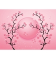 Cherry blossom motif template vector image