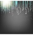 Science blue lights vector image