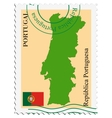 mail to-from Portugal vector image