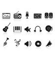 music sound equipment icon vector image