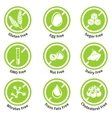 Allergen free products stickers vector image