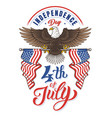 american eagle independence day vector image vector image