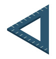 angle ruler icon isometric style vector image
