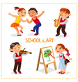 Art school and hobby vector image vector image