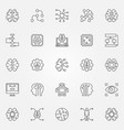 artificial intelligence icons set robot vector image