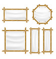 bamboo frame with canvas set vector image