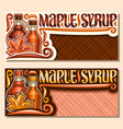 banners for maple syrup vector image vector image