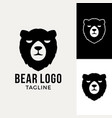 bear face logo animal graphic vector image vector image