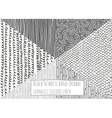Black and white textures seamless hand-drawn vector image