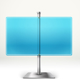 Blank transparent glass information board Template vector image vector image