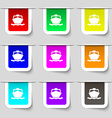 boat icon sign Set of multicolored modern labels vector image