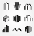 Building real state icons set vector image vector image