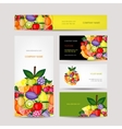 Business cards design fruit background vector image