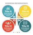Business circle infographic chart diagram vector image vector image