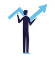 businessman holding arrow business vector image