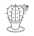 cactus line icon sign on vector image vector image