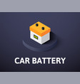 car battery isometric icon isolated on color vector image