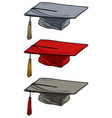 cartoon academic graduation mortarboard square cap vector image
