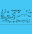china shenzhen winter holidays skyline merry vector image vector image