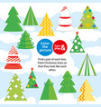 christmas trees children game color the picture vector image
