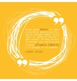 Circle frame with quote on yellow background vector image