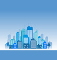 cities blue buidling design vector image vector image