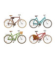 classic bike set icons retro bicycle cycle vector image vector image