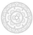 Coloring Black Floral Mandala vector image