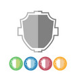 custom shield icons vector image