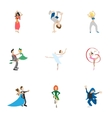 Dance styles icons set cartoon style vector image vector image