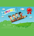 diploma template for kidscertificates child vector image vector image