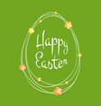 easter greetings card egg frame scribble lines vector image vector image