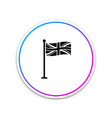 flag great britain on flagpole icon isolated on vector image vector image