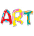 font design for word art in colorful color vector image vector image