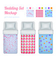 girlish bed cloths collection vector image vector image