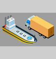 global freight transportation flat design vector image vector image