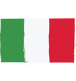 grunge italy flag or banner vector image vector image