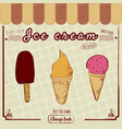 ice cream set popsicles and cones decoration and vector image vector image