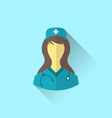 icon of medical nurse with shadow in modern flat vector image