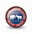 isolated donkey and elephant button of vote vector image vector image