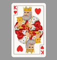 King of hearts playing card vector image vector image