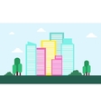 Landscape town flat of silhouette vector image vector image