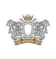 lion coat arms logo icon vector image vector image