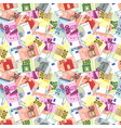 lot of bright different euro banknotes seamless vector image vector image