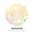 navigation circle concept vector image vector image