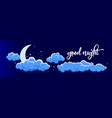night clouds 2 vector image vector image