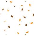 oak leaves pattern seamless vector image vector image