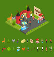 outdoor zoo with wild animals and elements concept vector image vector image