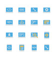 programming and coding in flat icon set vector image