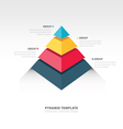 pyramid infographic template vector image vector image